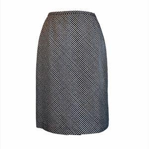 NWOT ANN TAYLOR A-Line Silk Geometric Skirt